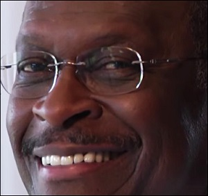 Herman Cain Screen Shot from Smoking Ad Used During His Presidential Bid