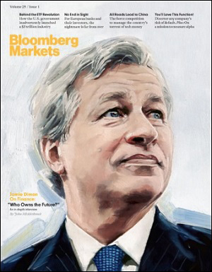 Jamie Dimon Cover Story at Bloomberg Markets, March 2016