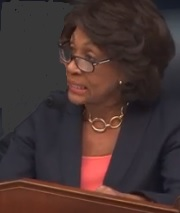 Maxine Waters, Chair of House Financial Services Committee, Giving Opening Remarks at Wells Fargo Hearing on March 12, 2019 (Source: Screenshot from Live Feed.)