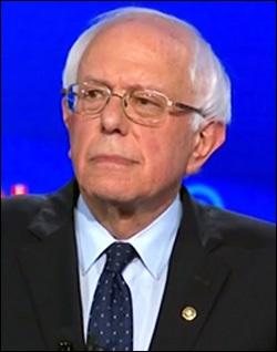 Senator Bernie Sanders at the Democratic Debate, July 30, 2019