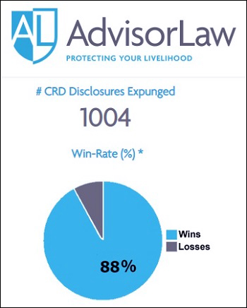 AdvisorLaw Has Removed 1,004 Claims Against Brokers from their Public Records So Far in 2019
