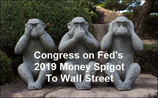 Congress on Fed's 2019 Money Spigot to Wall Street