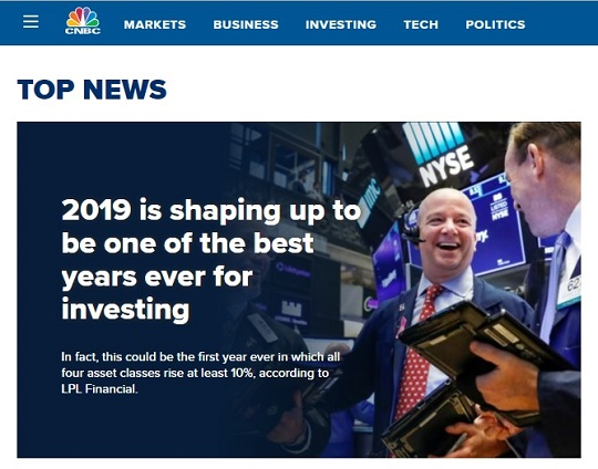 Headline at CNBC, Thursday, October 24, 2019
