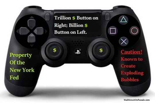Image result for Fed's money button creates electronic money for the wealth few'