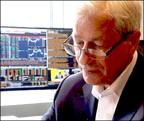 Jamie Dimon Sits in Front of Trading Monitor in his Office (Source -- 60 Minutes Interview, November 10, 2019)