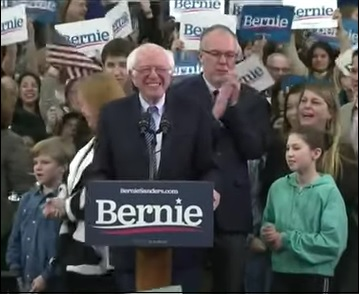 Senator Bernie Sanders Delivers His Victory Speech Following New Hampshire Primary, February 11, 2020