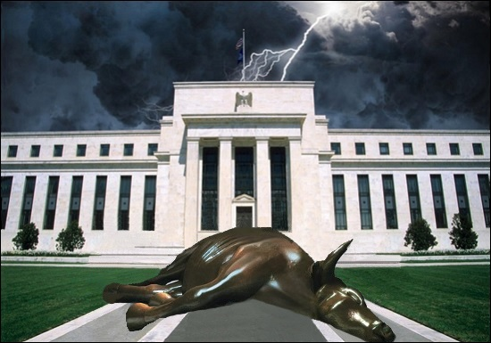 Federal Reserve Building, Washington, D.C. with Dead Bull