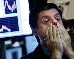 Frightened Wall Street Trader