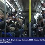 Packed New York City Subway, March 4, 2020