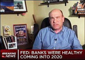 Steve Liesman of CNBC Reports that Fed Says Banks Were Healthy Coming Into 2020