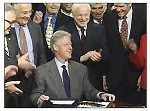 President Bill Clinton Signing Repeal of Glass-Steagall Act