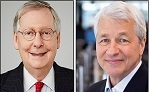 Senator Mitch McConnell (Left); JPMorgan Chase Chairman and CEO, Jamie Dimon (Right)