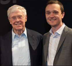 Charles Koch, Chairman and CEO of Koch Industries (left); Brian Hooks, Chairman and CEO of Koch Front Group, Stand Together.