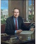 Larry Summers, Official Oil Portrait of U.S. Treasury Secretary by Everett Raymond Kinstler