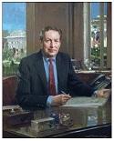 Larry Summers, Official Oil Portrait of U.S. Treasury Secretary by Everett Raymond Kinstler