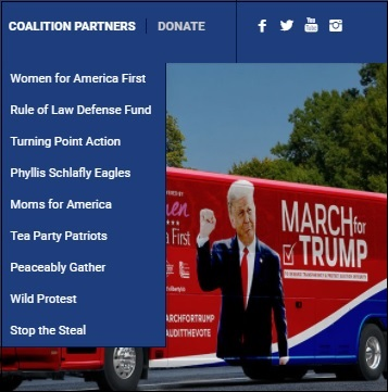 Coalition Partners for January 6, 2021 March for Trump