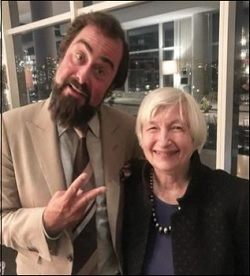 David Zervos of the Jefferies Group on April 2, 2018 with Janet Yellen at a Speaking Engagement for Which She Was Paid Lavishly
