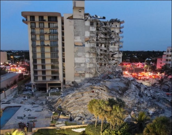 Champlain Towers South Collapsed in Surfside, Florida at Approximately 1:23 A.M. on Thursday, June 24, 2021