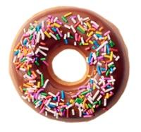 Krispy Kreme Doughnut, Chocolate Iced Glazed with Sprinkles