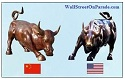 Shanghai Bull vs Wall Street Bull