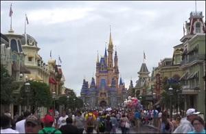 Largely Maskless Crowd at Disneyworld, Orlando, FL -- 4th of July Weekend, 2021